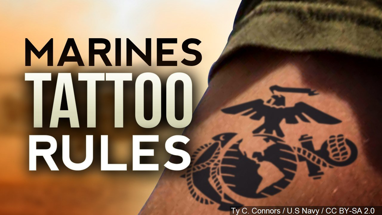 Marine corps makes changes to tattoo policy kwwl for Marine corps tattoo regulations