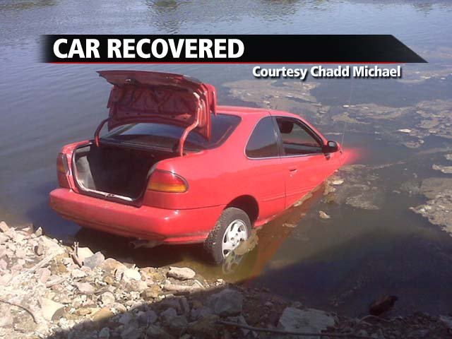 Chad Michael's stolen car was found in the Cedar River early Saturday morning