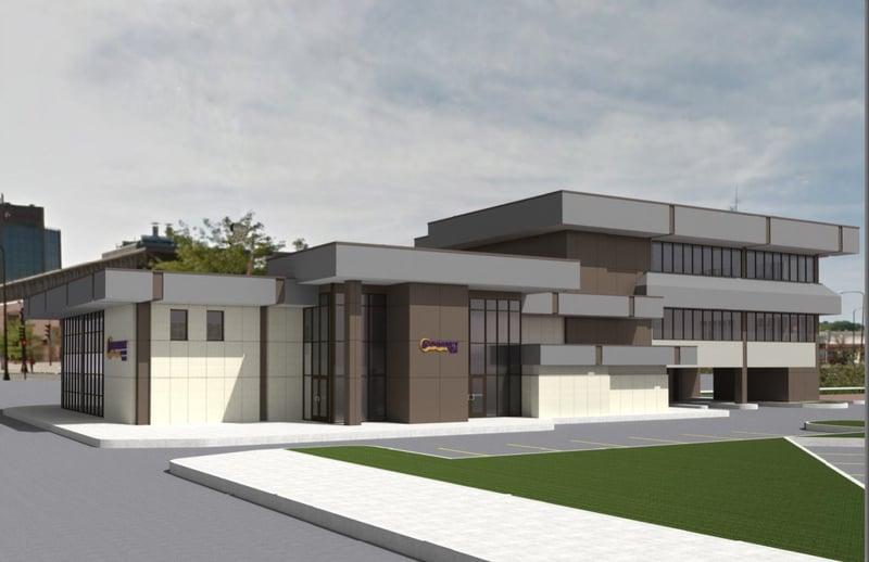 Major renovation underway on community bank trust for Community motors waterloo iowa