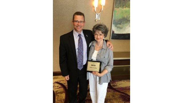 Dolly Fortier with President of Coloff Media, Jim Coloff