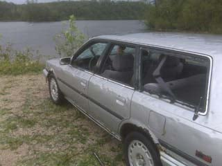 Windows were knocked out a hail drops on Pine Lake State Park in Hardin County