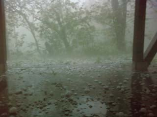 This hail was reported at Pine Lake State Park in Hardin County