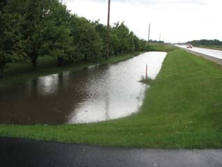 Here is flooding seen north of La Porte City