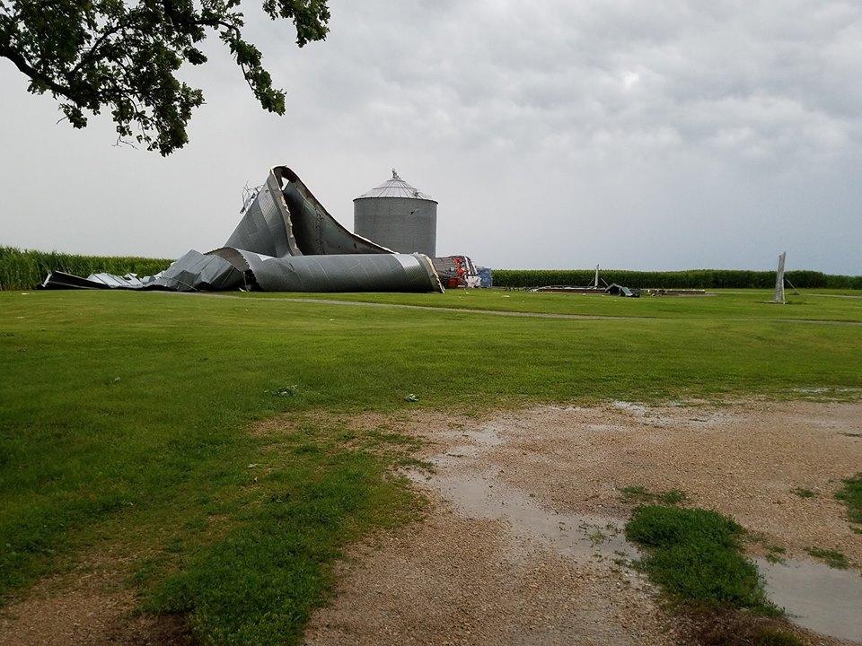 Storm damage in Jesup