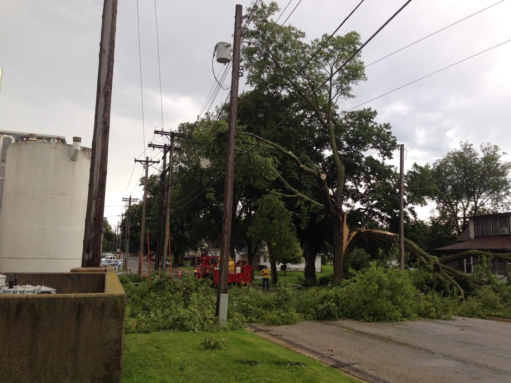 Storm damage in Grundy Center