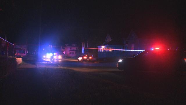 Police at 520 Elm Street Monday night