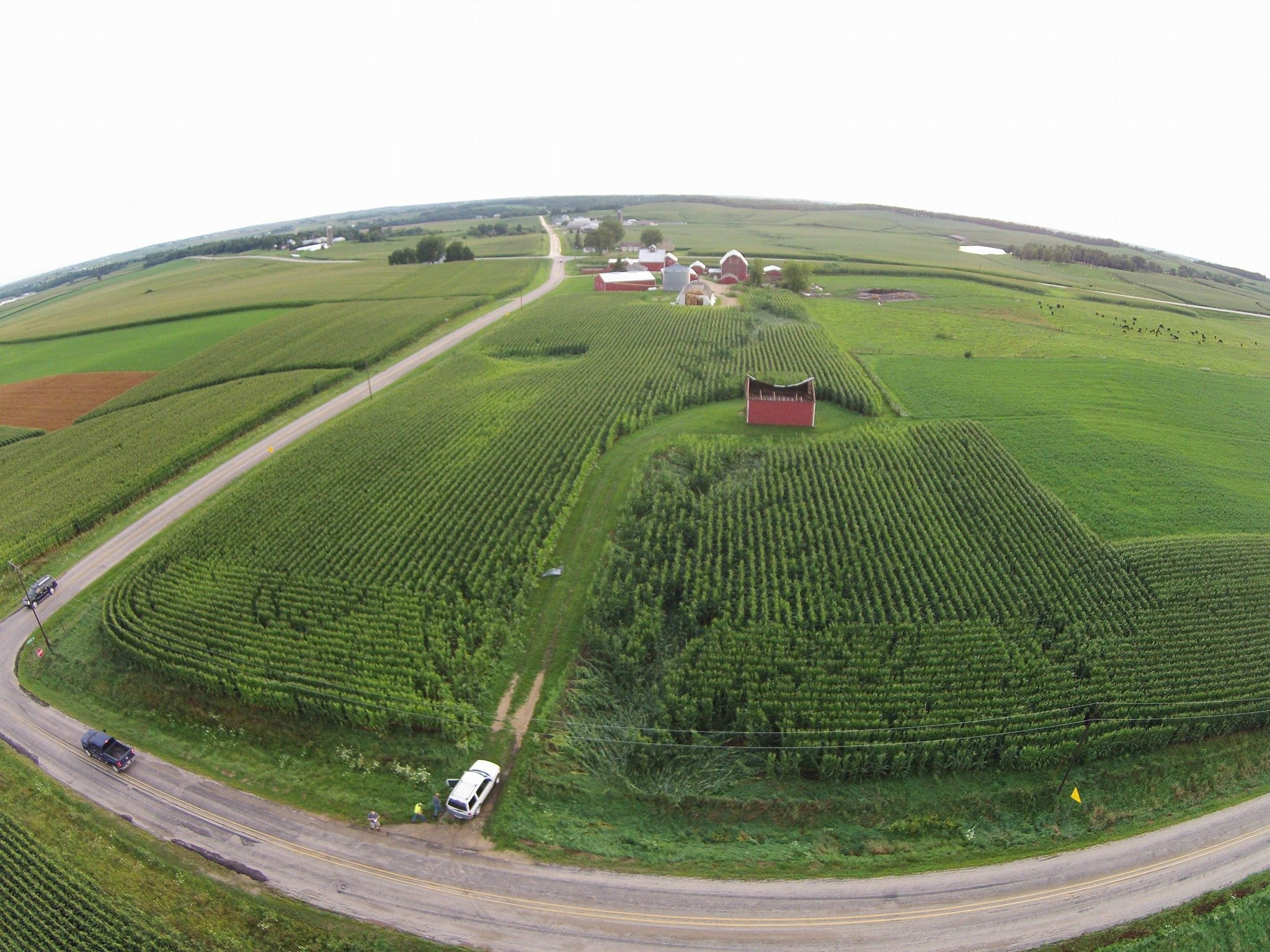 Just north of Worthington, courtesy ScanDBQ Online
