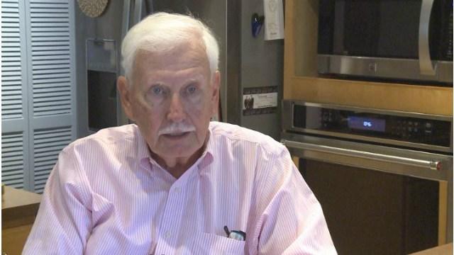 Former Washington High School Principal Ralph Plagman speaks with KWWL in his home.