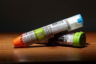 Two EpiPens used to treat severe allergic reactions with a dose of Epinephrine delivered in an autoinjector. John Makely / NBC News file However, those without better insurance plans, or the uninsured, aren't able to take advantage of the program.  Dr. Jo
