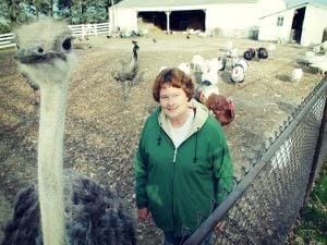 Bonnie Sanders with Big Bird
