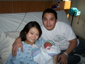 Nhi Wendy Nguyen and parents Tracy and Quoc Nguyen.