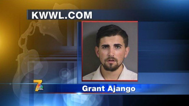 20-year-old Grant Ajango is accused of sexually assaulting a woman inside a Jimmy John's restroom.