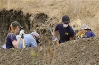 The FBI and San Luis Obispo County Sheriff's Department continue their dig and investigation on the hillside above Cal Poly related to the disappearance of student Kristin Smart two decades ago, Thursday, Sept. 8, 2016 in San Luis Obispo, Calif. David Mid