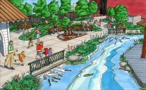 River Plaza Reflection Garden