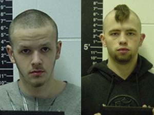 Andrew Gerard (left) and Sean Meester face burglary and theft charges