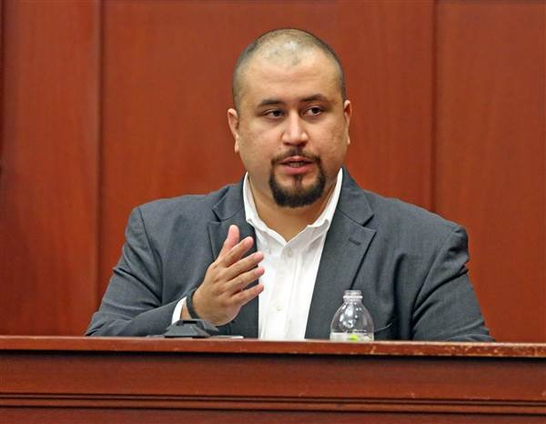 George Zimmerman looks at the jury as he testifies in a Seminole County courtroom on Sept. 13, 2016, in Orlando, Fla. Red Huber / AP