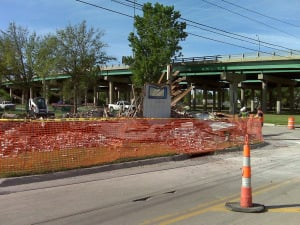 After the demolition - May 6, 2010
