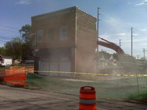 During demolition - May 6, 2010
