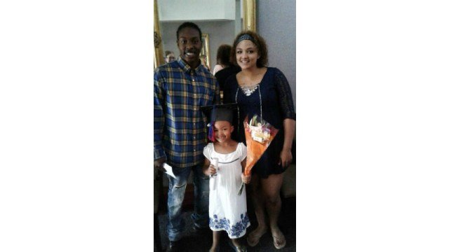 Martrell Watson with his daughter Marianah and her mother Mariya.