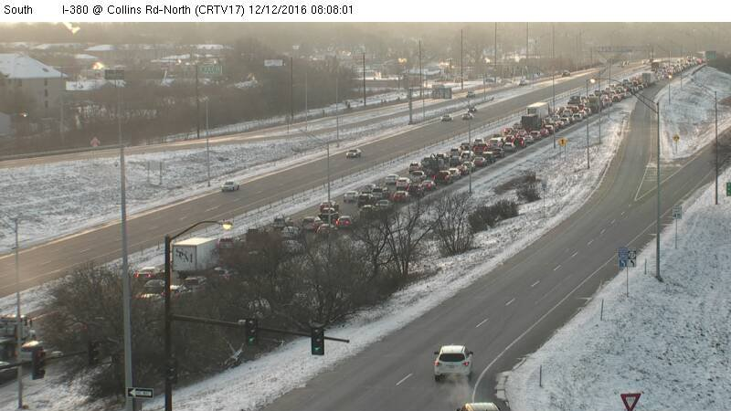 Traffic backup on i 380 in cedar rapids wqow tv eau claire wi traffic backup on i 380 in cedar rapids publicscrutiny Choice Image