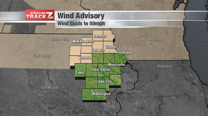 Wind Advisory to 6pm Monday