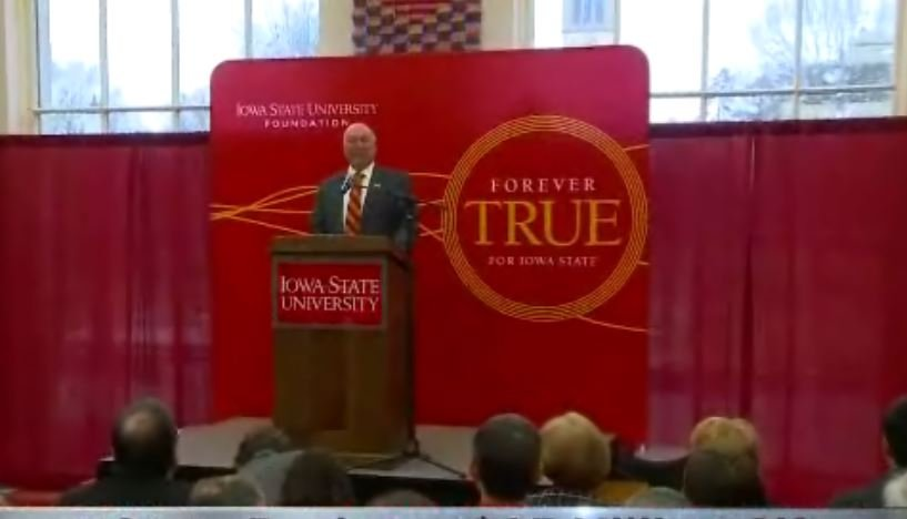 Iowa State University announced one of its largest donations ever