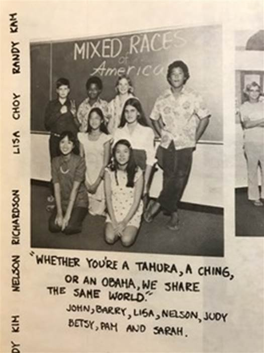 Young Barack Obama in a 7th grade photo in 1974 at Punahou School, Honolulu, Hawaii. Darin Maurer