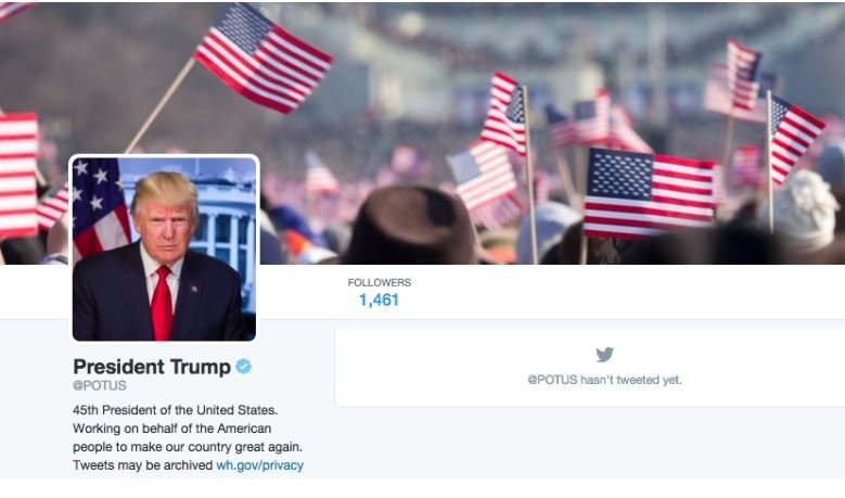 news national donald trump takes potus handle twitter transfer power