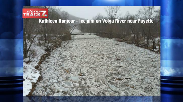 Ice jam on Volga River near Fayette