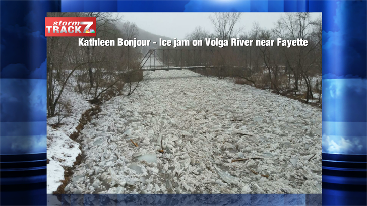 Ice jam on Volga River near Fayette