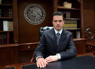 Mexican President Enrique Pena Nieto during a television broadcast Wednesday night in Mexico City. Mexican Presidency / EPA