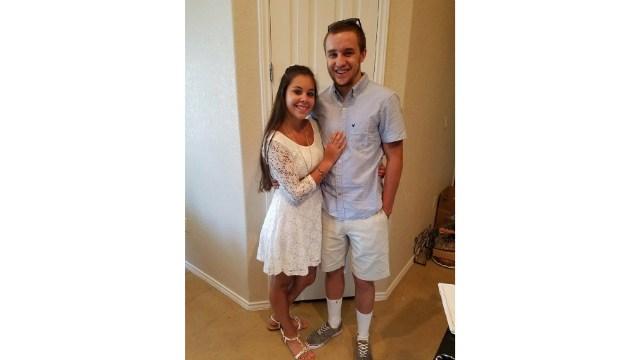 Selena with her boyfriend Cody.