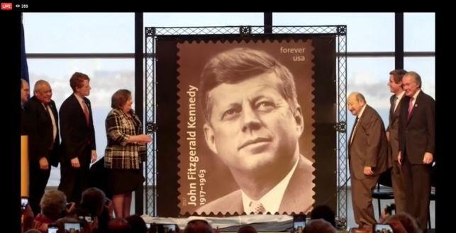 New John F. Kennedy stamp marks centennial of his birth