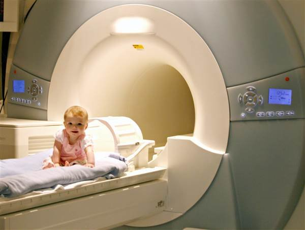 MRI scans of 6- to 12-month-old infants at high risk of autism were able to predict a diagnosis at 24 months or later. Washington University School of Medicine, St. Louis