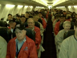 All participants on the plane, heading to Washington, D.C.