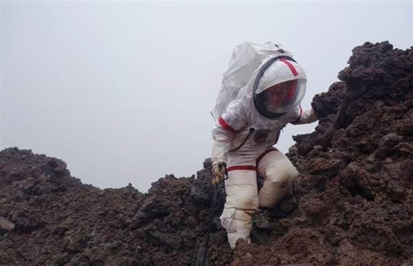 A HI-SEAS crewmember participates in a year-long simulated Mars mission in Mauna Loa, Hawaii. Christiane Heinicke / HI-SEAS