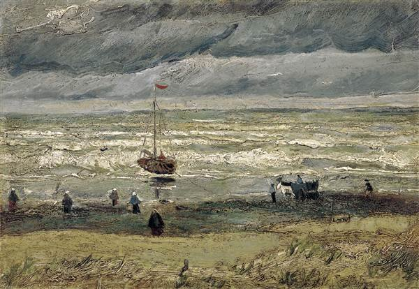 "The 1882 painting by Dutch artist Vincent van Gogh, ""View of the Sea at Scheveningen."" Getty Images"