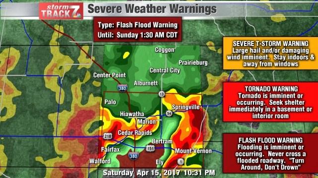 Flash Flood Warning for Linn County