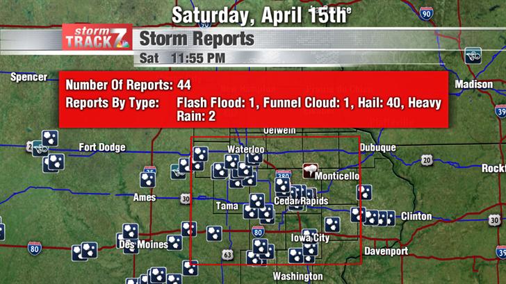 April 15th Storm Reports