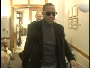 Derrell Johnson-Koulianos made an initial court appearance in Johnson County on Wednesday.