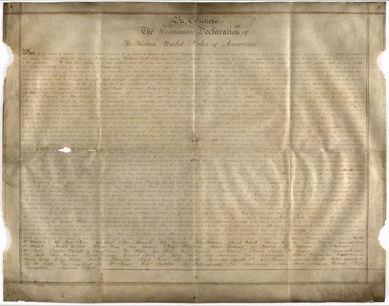 The Sussex Declaration. West Sussex Record Office