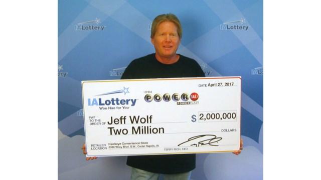 Photo courtesy of the Iowa Lottery.