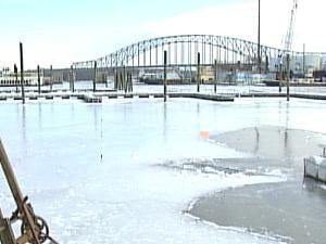 Dubuque's Ice Harbor was built to protect wooden ships from ice floes.