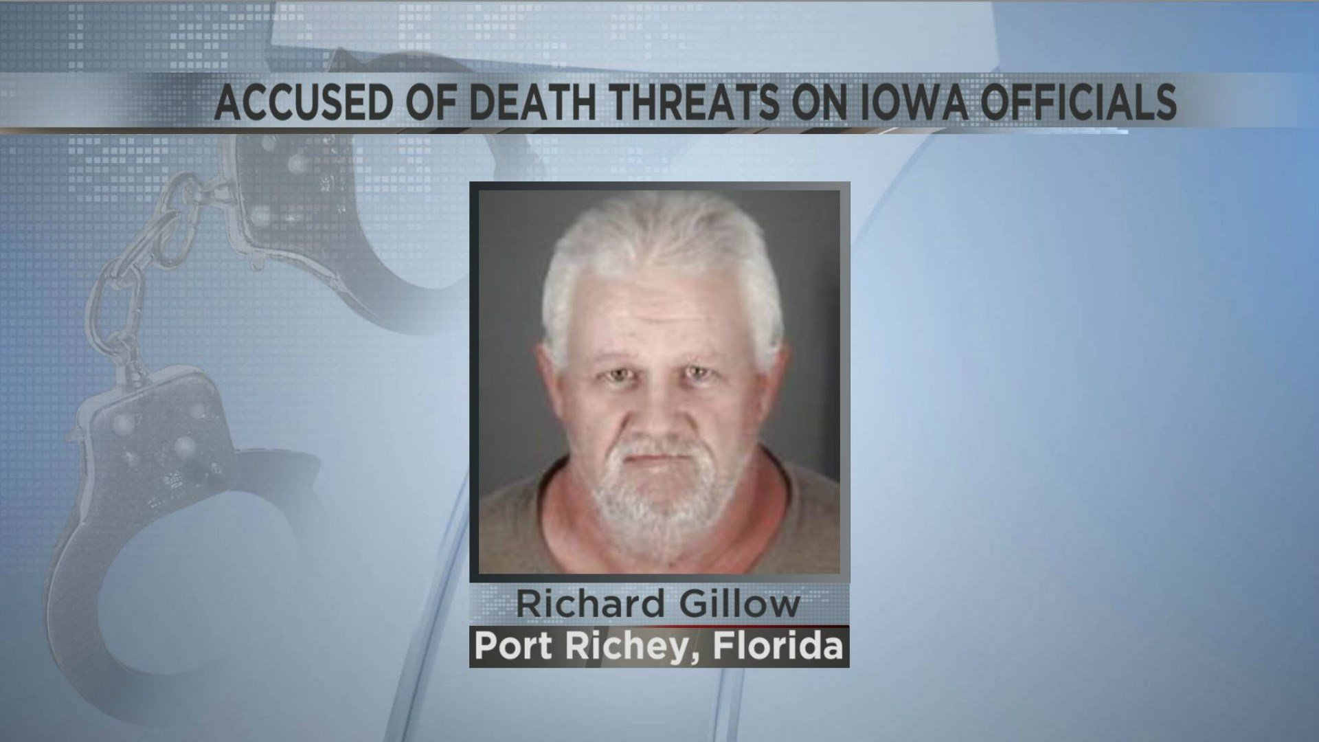 Florida man charged with threatening Iowa state officials