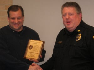 Officer Paul Batcheller and Chief Sam Hargadine