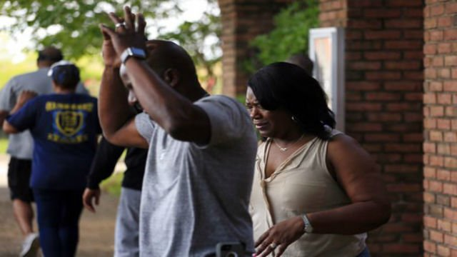 (AP) Family members react after learning that Kingston Frazier was found dead.