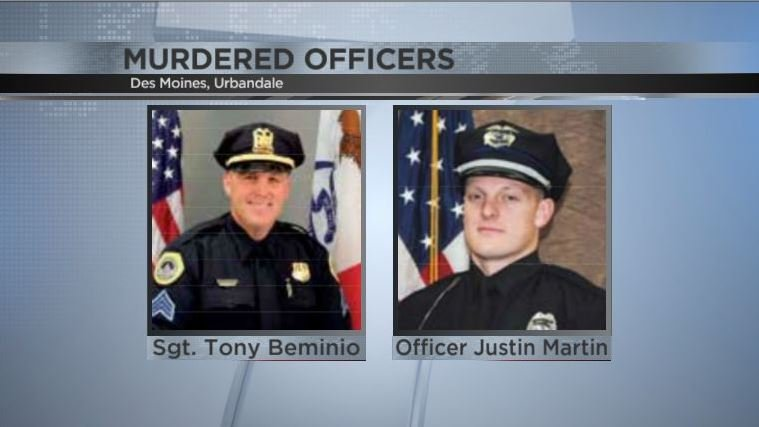 Iowa man pleads guilty to killing 2 cops during ambushes