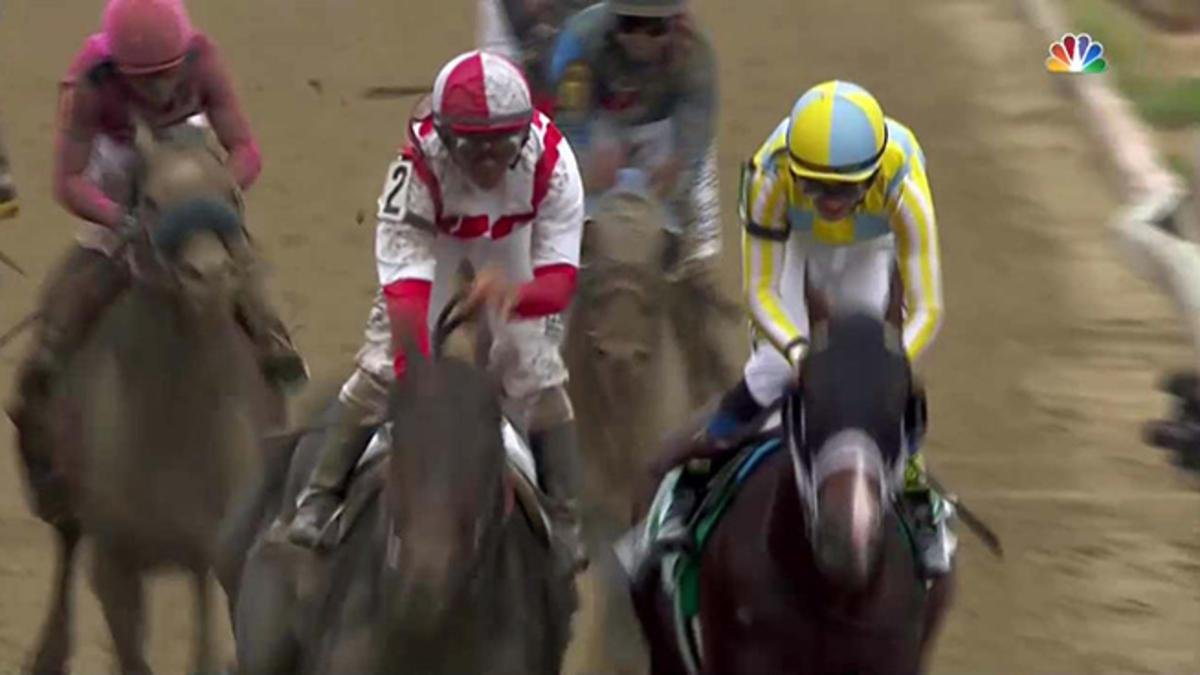 Cloud Computing surges past Always Dreaming to win Preakness