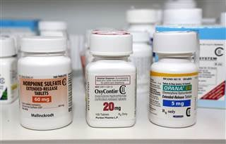 The following Schedule 2 narcotics are shown : Morphine Sulfate, OxyContin and Opana on January 18, 2013 in Carmichael, Calif. File Rich Pedroncelli / AP File
