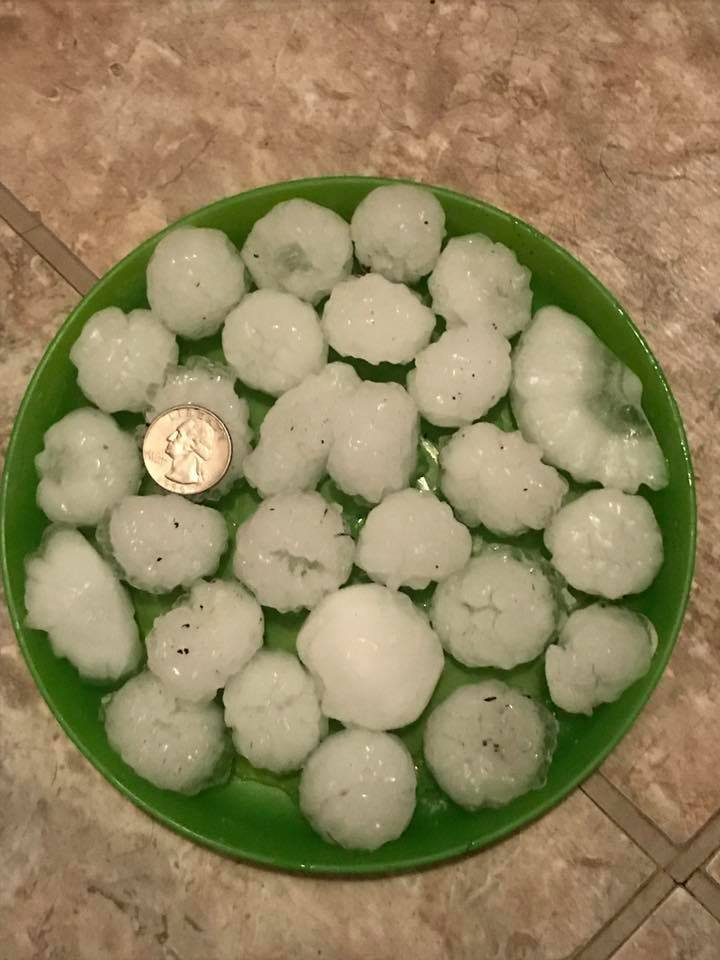 Large hail in Kittrell